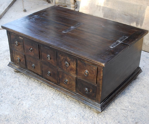 Fantastic Well Known Square Chest Coffee Tables With Regard To Coffee Table With Storage Coffee Table Trunk Refinished Tool (View 9 of 50)