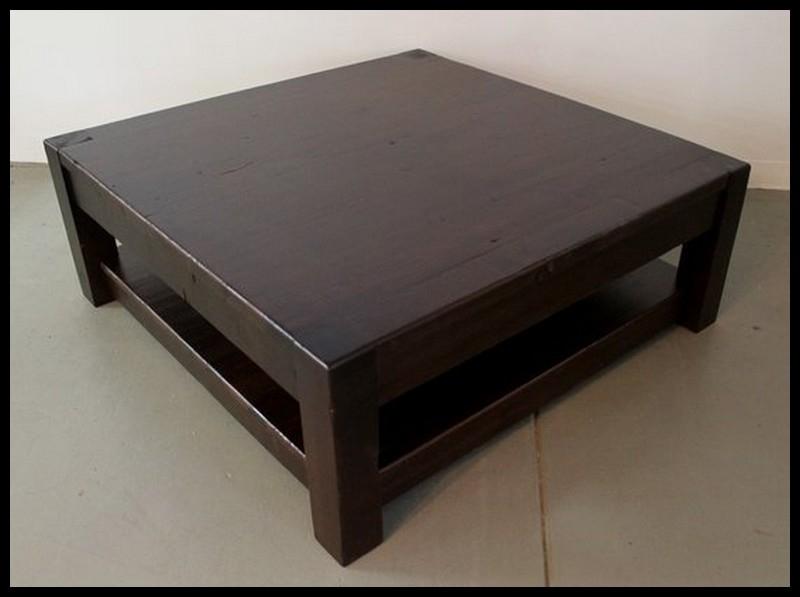 Fantastic Wellknown Square Dark Wood Coffee Tables Pertaining To Cool Dark Wood Coffee Table Design (View 3 of 50)