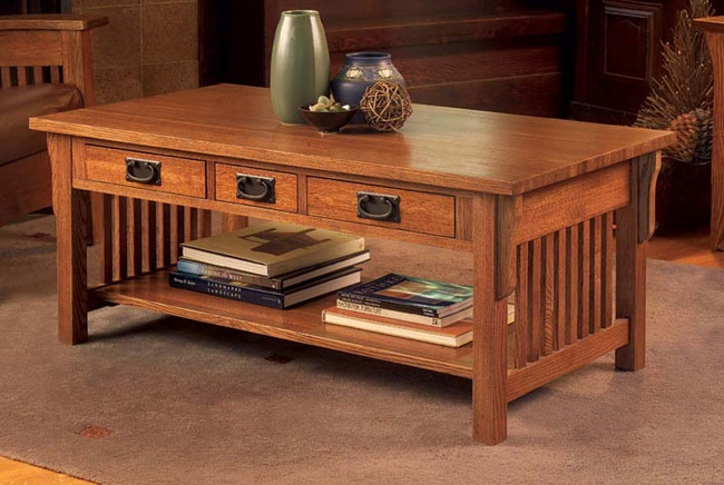 Fantastic Wellknown Square Oak Coffee Tables For Living Room The 33 Off Country Mission Square Coffee Table In Oak (Image 16 of 50)