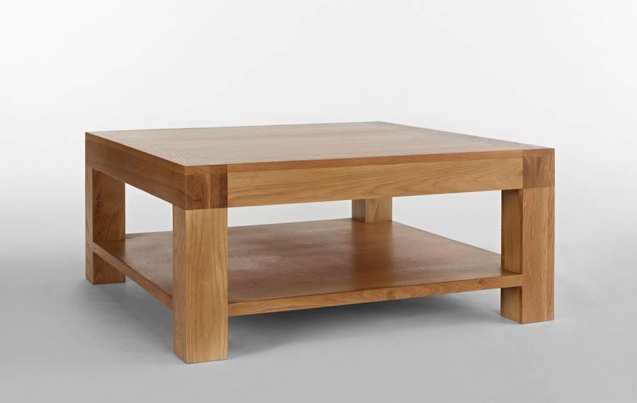Fantastic Wellknown Square Oak Coffee Tables In Santana Blonde Oak Square Coffee Table (View 5 of 50)