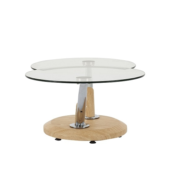 Fantastic Well Known Tokyo Coffee Tables With Tokyo Clear Glass Top Coffee Table In Beech 3783 Furniture (Image 25 of 50)
