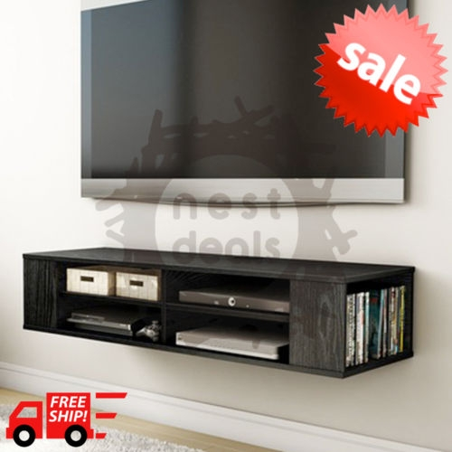 Fantastic Well Known Wall Mounted TV Stands With Shelves Inside Wall Mount Media Center Shelf Floating Entertainment Console Tv (Image 29 of 50)