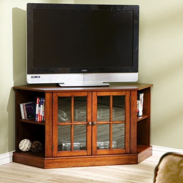 Fantastic Wellknown Walnut Corner TV Stands With Harper Blvd Crescent Walnut Corner Tv Stand Free Shipping Today (Image 25 of 50)