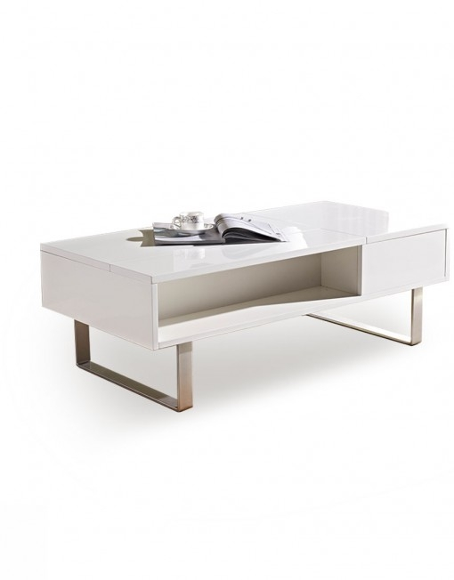 Fantastic Wellknown White And Chrome Coffee Tables In Occam Coffee Table With Lift Top Expand Furniture (Image 23 of 50)