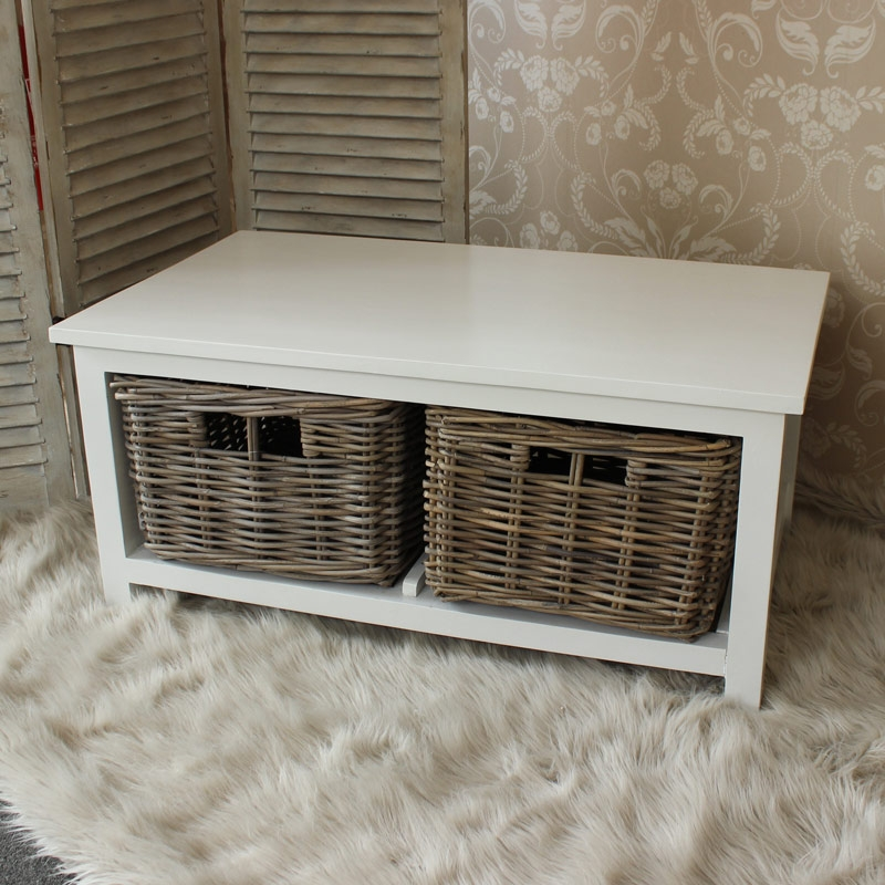 Fantastic Wellknown White Coffee Tables With Baskets For White Coffee Table With Baskets Sharpieuncapped (Image 19 of 40)