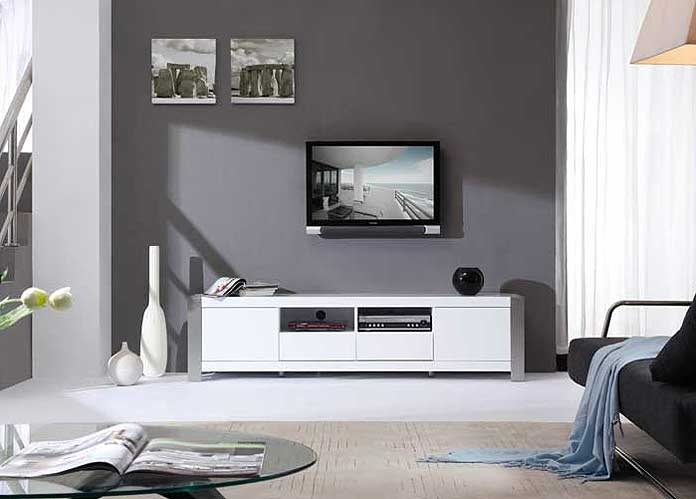 Fantastic Wellknown White Contemporary TV Stands Inside Modern White Tv Stand Bm01 Tv Stands (Image 17 of 50)