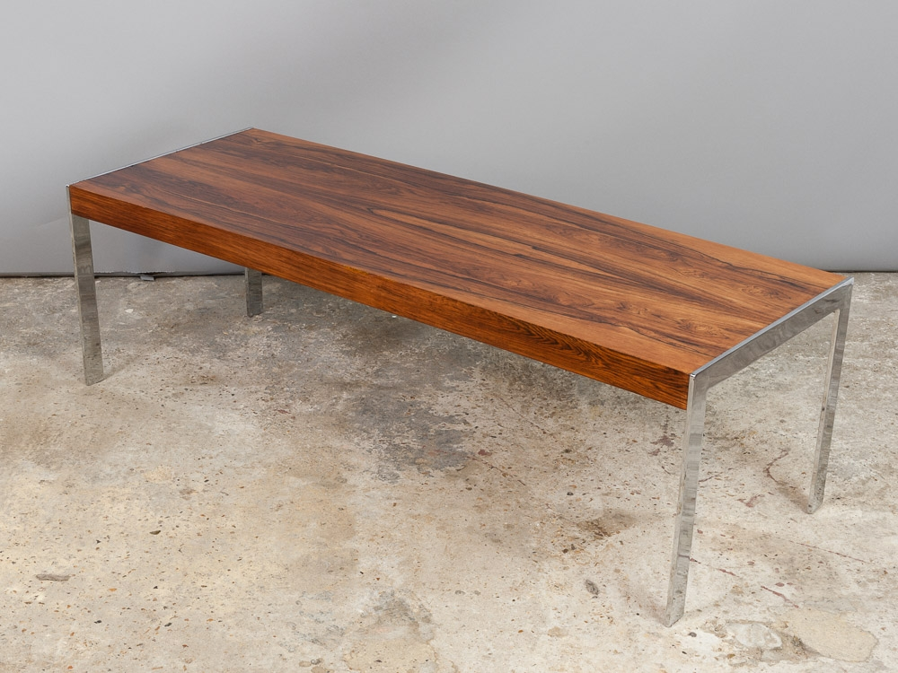 Fantastic Well Known Wood Chrome Coffee Tables Throughout Mid Century Rosewood And Chrome Coffee Table Richard Young For (Image 22 of 40)