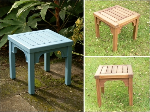 Fantastic Well Known Wooden Garden Coffee Tables Throughout Oak Iroko Teak Coffee Tables Hadham Style (Image 20 of 50)