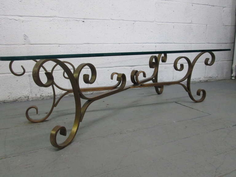Fantastic Wellknown Wrought Iron Coffee Tables Regarding French Gilded Wrought Iron Coffee Table For Sale At 1stdibs (Image 23 of 50)