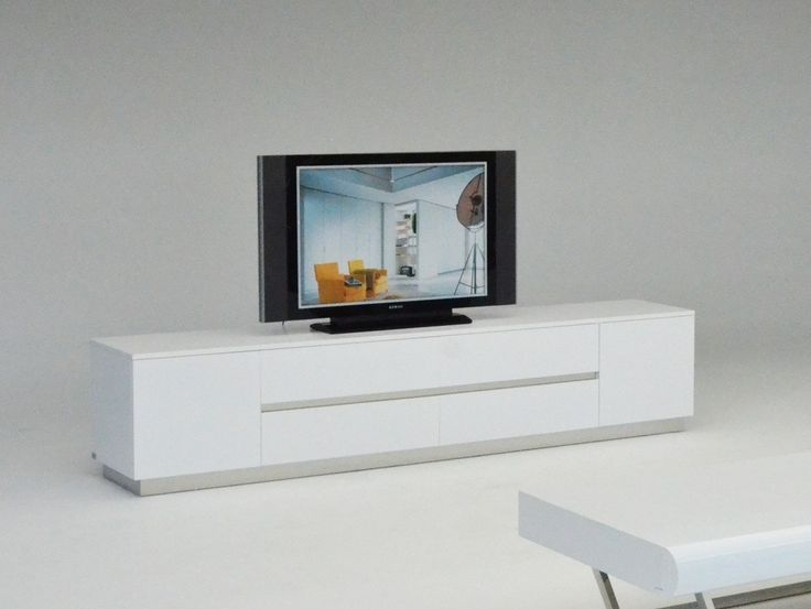 Fantastic Wellliked Contemporary Wood TV Stands With Modern Lacquer Tv Stand Furniture In White 895 Features (Photo 40 of 50)