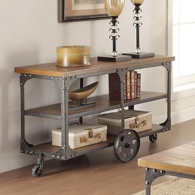Fantastic Wellliked Country TV Stands Inside Country Wheels Cart Contemporary Antique Rustic Tv Stand Media (Image 22 of 50)