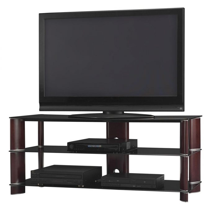 Fantastic Wellliked Dark Wood TV Stands Within Furniture Flawless Whalen Furniture Tv Stand For Living Room (View 45 of 50)
