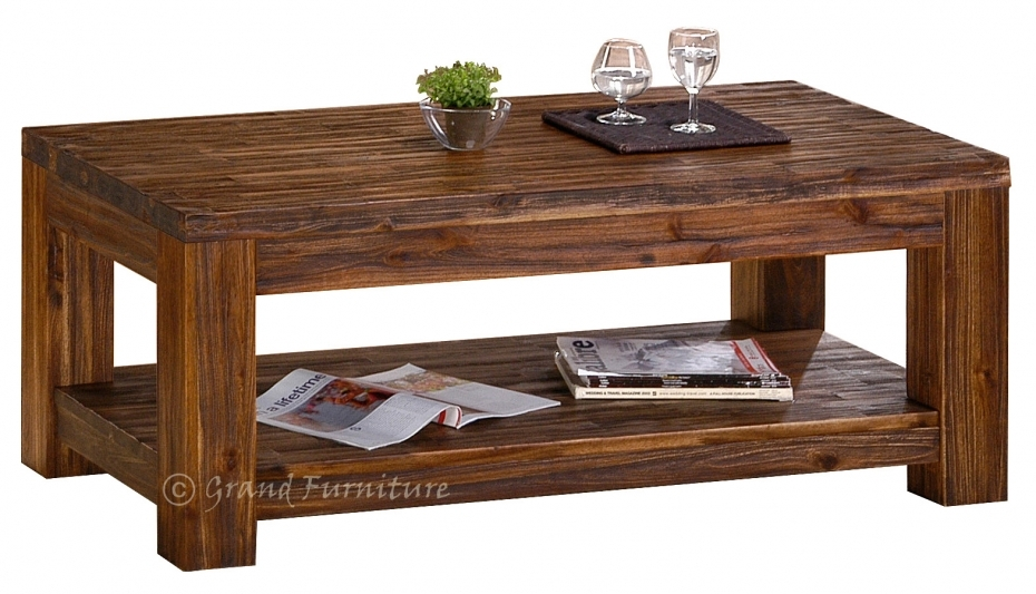 Fantastic Wellliked Dark Wooden Coffee Tables With Great Solid Wood Coffee Table (Image 20 of 50)