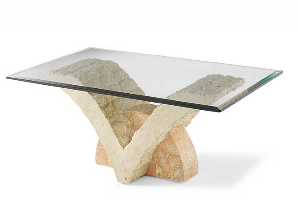 Featured Image of Glass And Stone Coffee Table