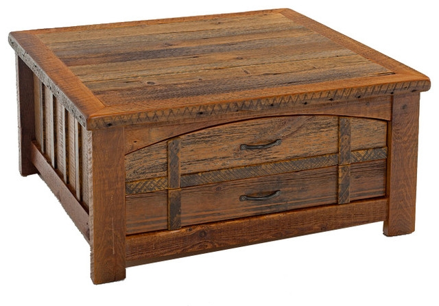 Fantastic Wellliked Heritage Coffee Tables Regarding Barnwood Heritage Sawtooth Coffee Table Rustic Coffee Tables (Image 20 of 50)