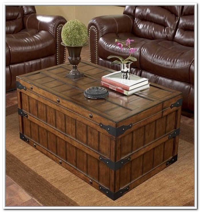 Fantastic Wellliked Large Trunk Coffee Tables For Living Room Top Coffee Table Glamorous Storage Trunk Rustic With (View 15 of 50)
