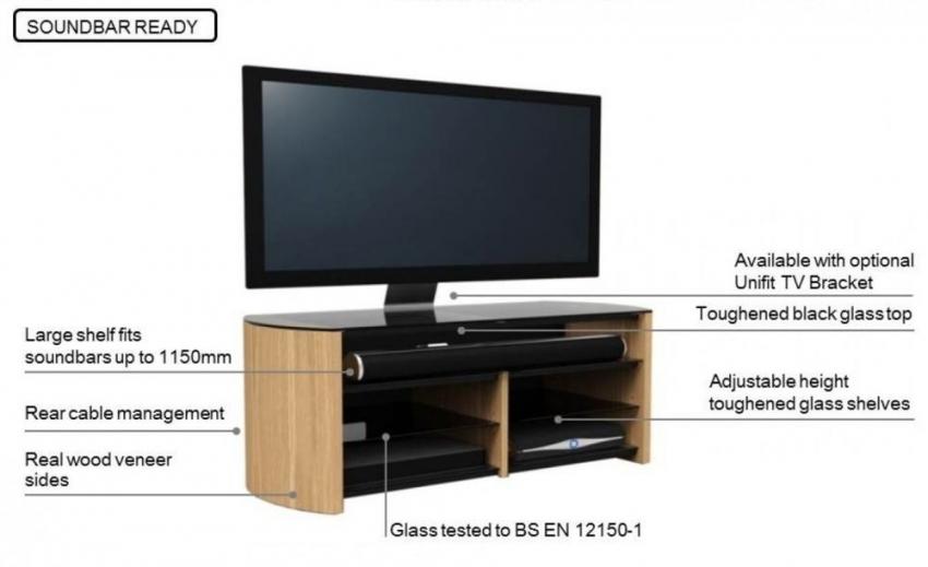 Fantastic Wellliked Light Oak TV Cabinets With Regard To Buy Alphason Finewood Light Oak Tv Cabinet Fw1350sb Lo Online (Image 21 of 50)