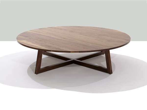 Fantastic Wellliked Oval Walnut Coffee Tables Within Finn Solid Wood 48 Inch Round Coffee Table Modern Occasional (Image 20 of 50)