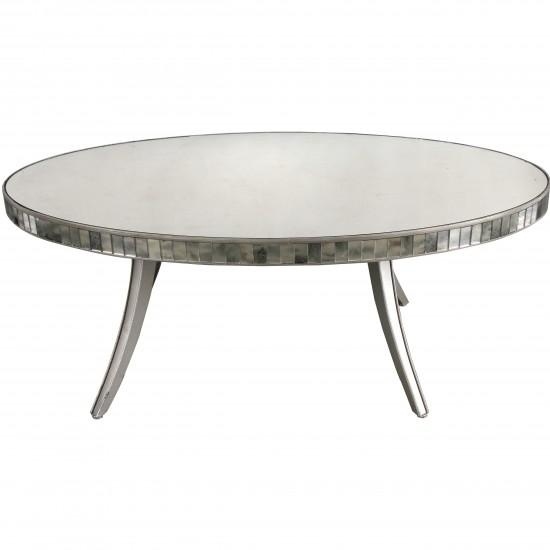 Fantastic Wellliked Round Mirrored Coffee Tables In Vesqueville Silver Mirror Top Coffee Table (Image 12 of 40)