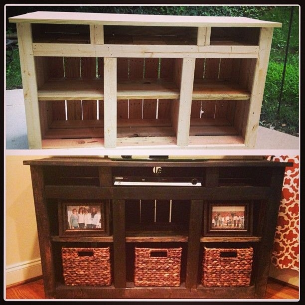 Fantastic Wellliked TV Stands With Baskets Within Best 25 Crate Tv Stand Ideas On Pinterest Cheap Wooden Tv (Image 21 of 50)