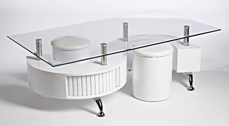 Fantastic Wellliked White And Glass Coffee Tables With S Wave Glass Coffee Table Contemporary Modern Rectangle Glass White (Image 19 of 40)