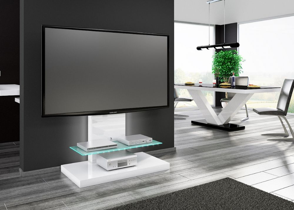 Fantastic Wellliked White High Gloss TV Stands Unit Cabinet Inside High Tv Stands For Bedrooms (Image 25 of 50)