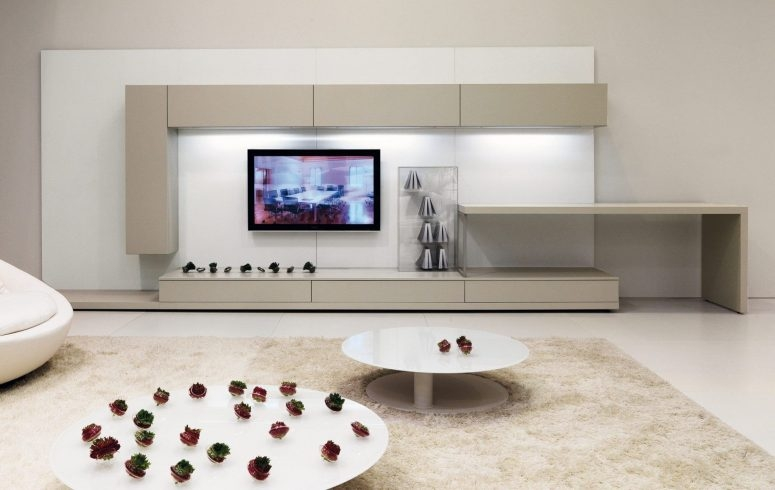 Fantastic Wellliked White Oval TV Stands Throughout Tv Stand Ideas For Small Spaces White Wood Wall Cabinet Shelves (Image 22 of 50)