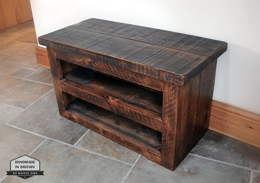 Fantastic Widely Used Chunky TV Cabinets Intended For Chunky Plank Tv Stand Rustic Owl (Image 13 of 50)