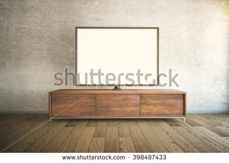 Fantastic Widely Used Dark Wood TV Cabinets Inside Tv Stand Stock Images Royalty Free Images Vectors Shutterstock (View 49 of 50)