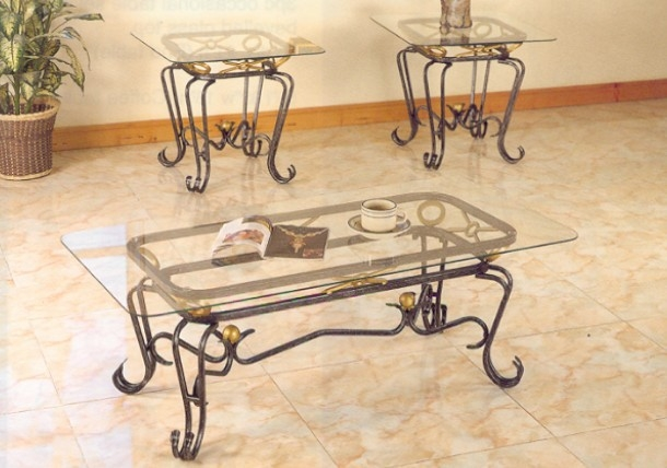 Fantastic Widely Used Glass And Metal Coffee Tables Within Wrought Iron Glass Coffee Table (View 15 of 50)