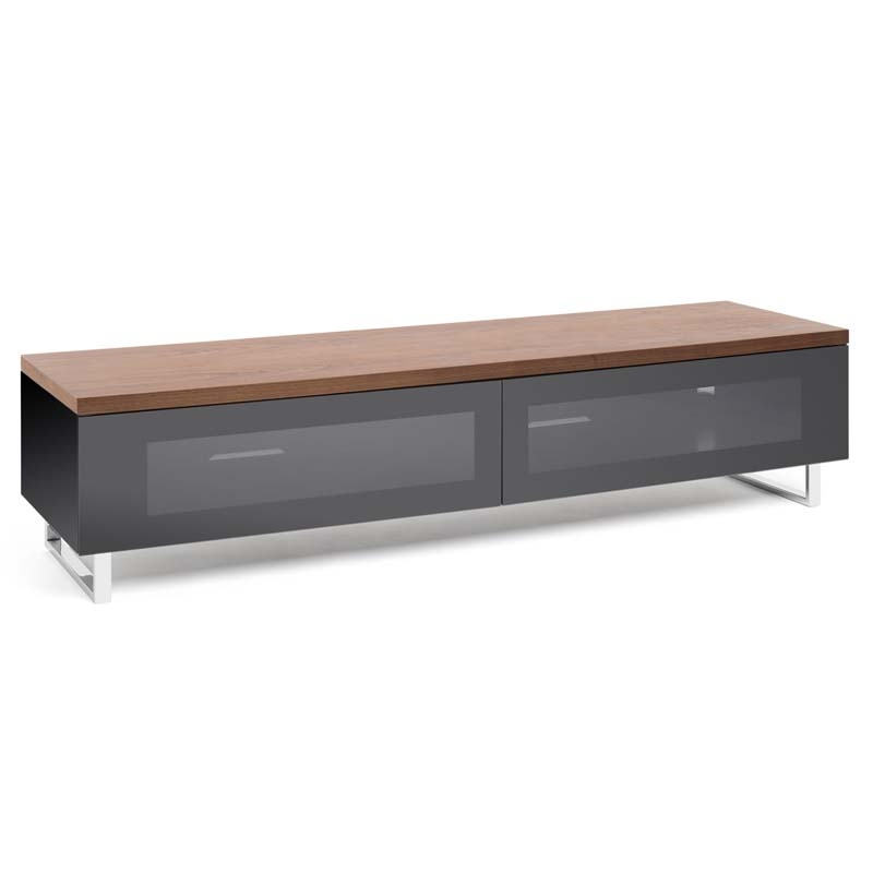 Fantastic Widely Used Long Low TV Cabinets Inside Techlink Panorama Series Low 65 Tv Stand With Drop Down Door And (Image 16 of 50)