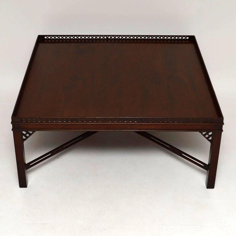 Fantastic Widely Used Mahogany Coffee Tables For Large Antique Georgian Style Mahogany Coffee Table At 1stdibs (Image 15 of 50)