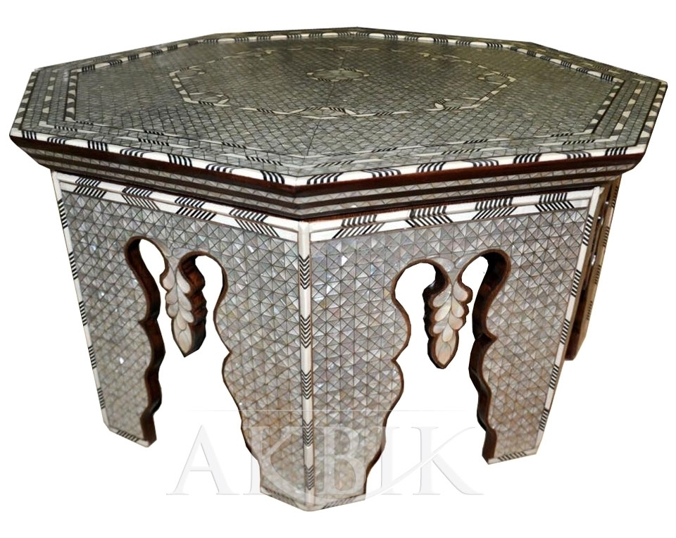 Fantastic Widely Used Mother Of Pearl Coffee Tables Inside Mediterranean Levantine Syrian Furniture Inlaid With Mother Of (Image 21 of 50)