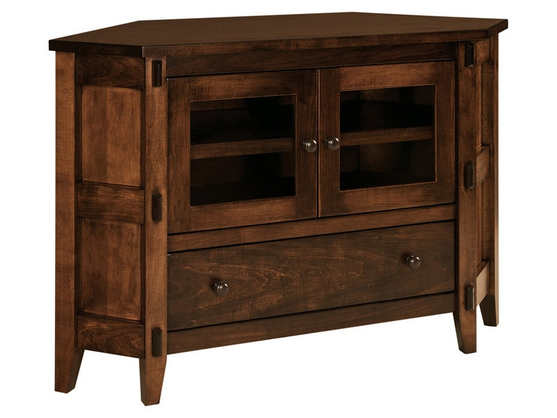 Fantastic Widely Used Real Wood Corner TV Stands With Corner Tv Cabinets And Stands Brandenberry Amish Furniture (View 6 of 50)