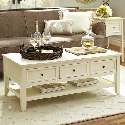 Fantastic Widely Used Retro White Coffee Tables With Regard To Coffee Table Painted Toulouse Drawer Coffee Table Antique White (Image 20 of 50)