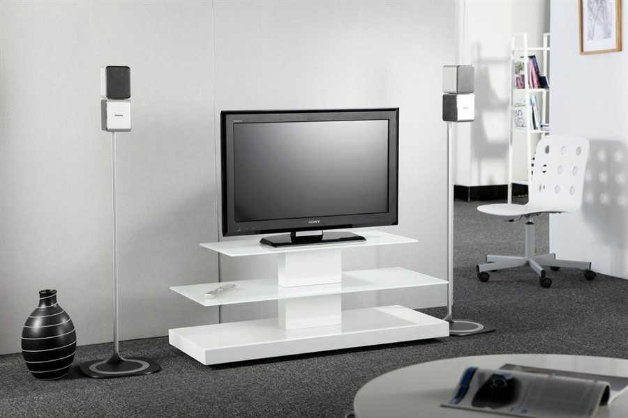 Fantastic Widely Used Small White TV Stands Inside Flat Screen Tv Stands For Small Spaces Tv Stands Entertainment (Image 20 of 50)