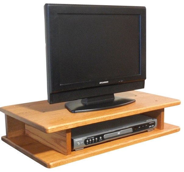 Fantastic Widely Used TV Stands In Oak Intended For Flat Screen Solid Oak Tv Riser Traditional Entertainment (Image 16 of 50)