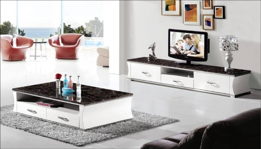 Fantastic Widely Used Tv Unit And Coffee Table Sets Pertaining To Living Room Glamorous Matching Tv Stand And Coffee Table Coffee (Image 21 of 50)