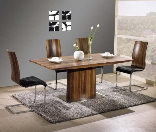 Fascinating Walnut Dining Table Sets Also Furniture Home Design Throughout Walnut Dining Table Sets (View 5 of 21)