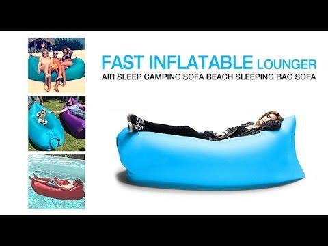 Fast Inflatable Lounger Air Sleep Camping Sofa Beach Sleeping Bag Within Sleeping Bag Sofas (Image 5 of 20)