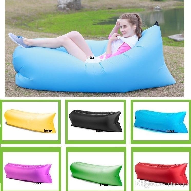 Fast Inflatable Sleeping Bag Sofa Air Bag Outdoor Camping Fatboy With Sleeping Bag Sofas (Image 6 of 20)