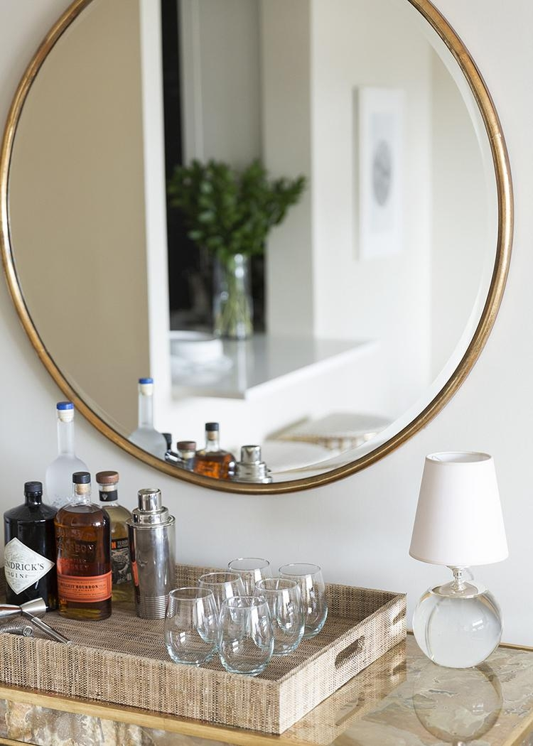 Favorite Wall Mirrors Of Every Shape – Room For Tuesday Intended For Round Gilt Mirror (Image 9 of 20)