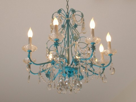 Feeling Blue Chandelier Redoux Restoration Redoux Inside Turquoise Blue Chandeliers (Image 12 of 25)
