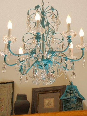 Feeling Blue Chandelier Redoux Restoration Redoux Pertaining To Turquoise Blue Chandeliers (Image 13 of 25)