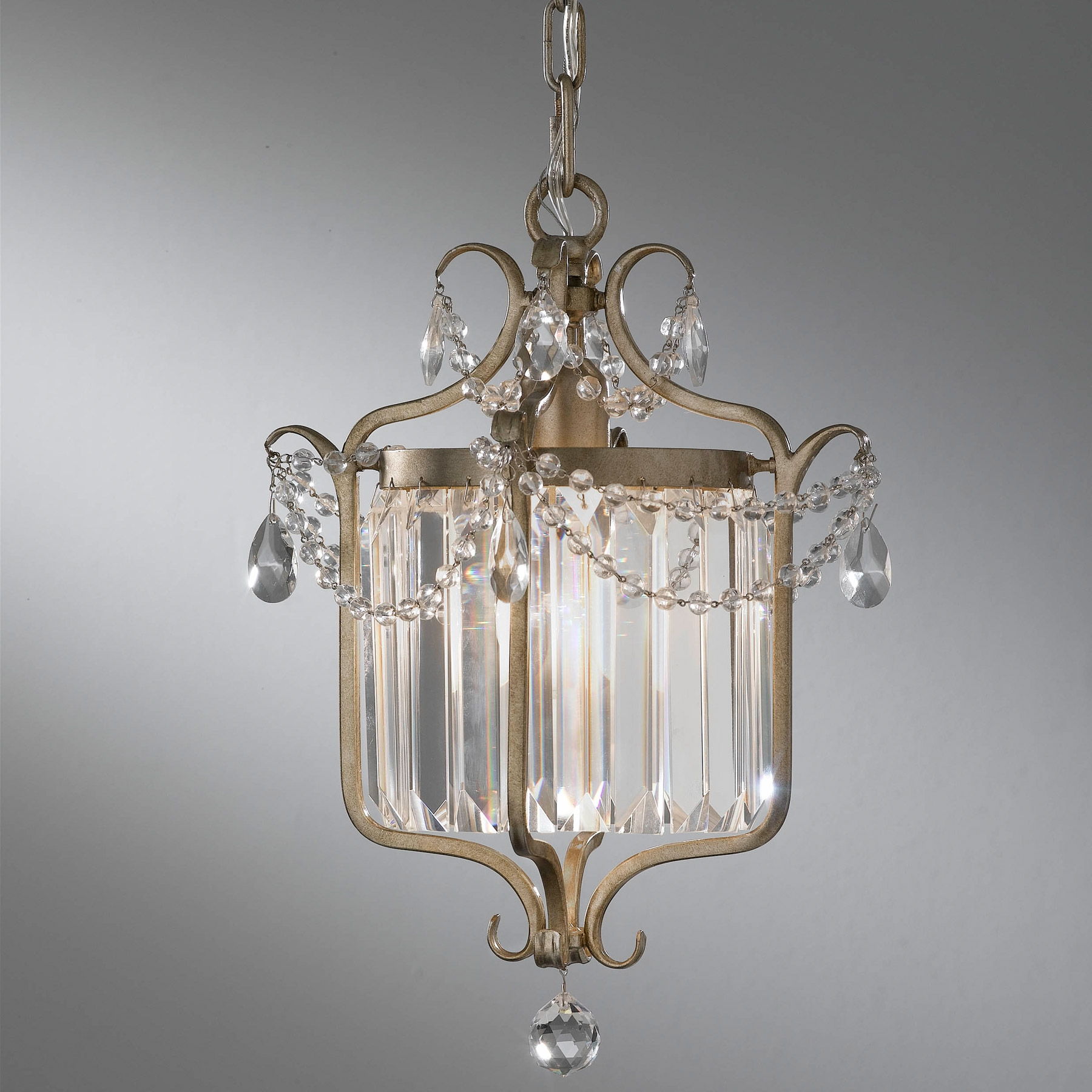 Feiss F24731gs Crystal Gianna Mini Chandelier Regarding Gianna Mini Chandeliers (Image 2 of 25)