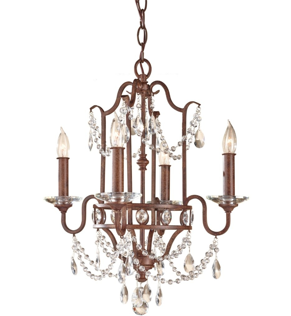 Feiss F24764mbz Gianna Scuro Mocha Bronze 4 Light Mini For Gianna Mini Chandeliers (Image 4 of 25)