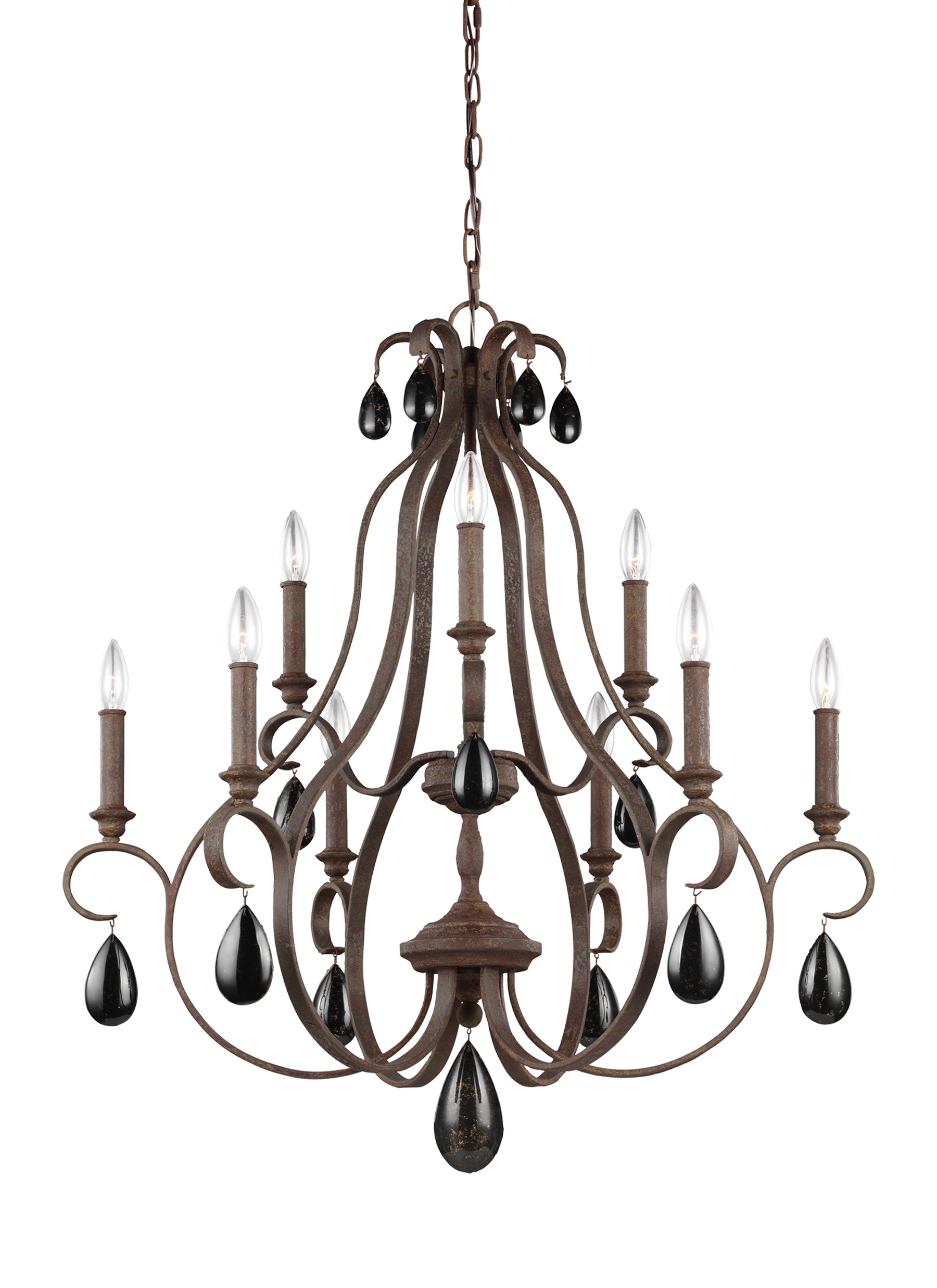 Feiss F30719wi Shipped Direct In Feiss Chandeliers (Image 9 of 25)