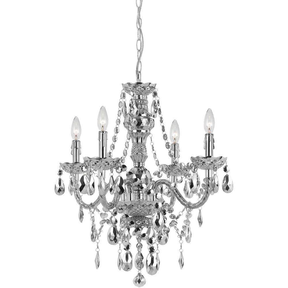 Feiss Gianna 4 Light Gilded Silver Mini Chandelier F24764gs The For Gianna Mini Chandeliers (Image 6 of 25)