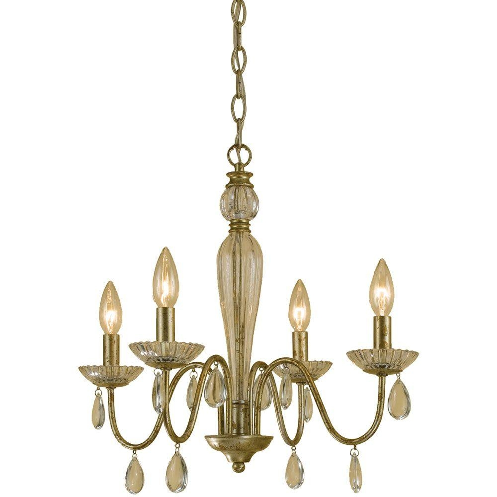 Feiss Gianna 4 Light Gilded Silver Mini Chandelier F24764gs The For Gianna Mini Chandeliers (Image 5 of 25)