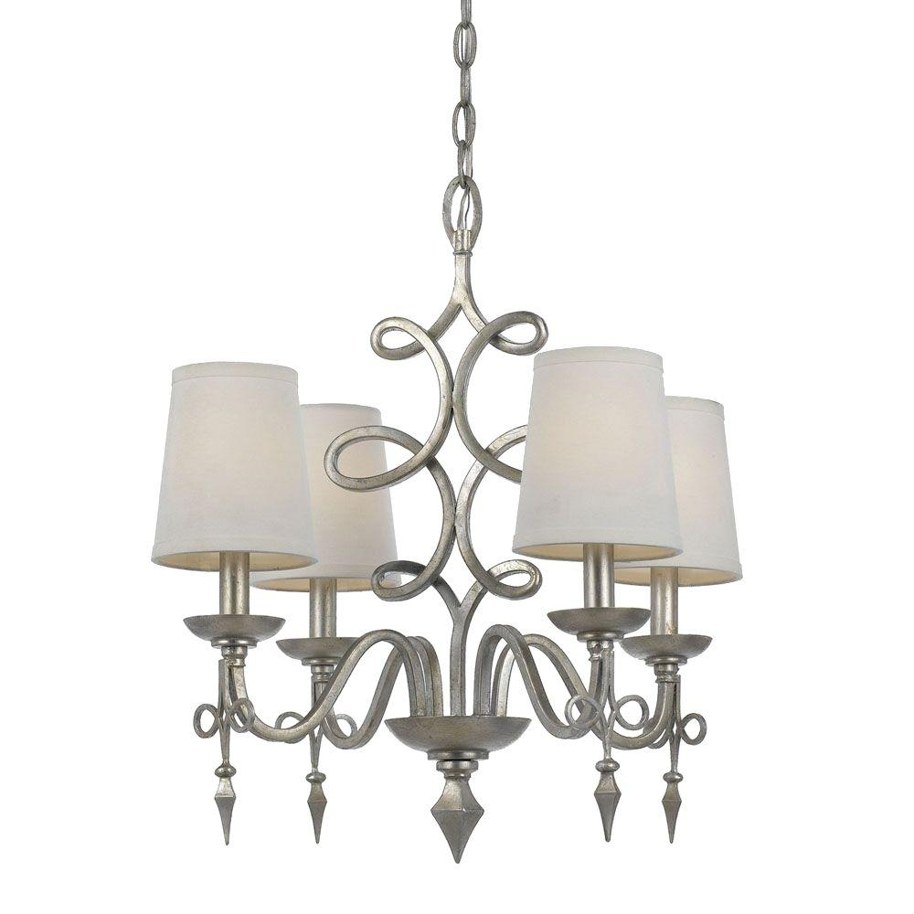 Feiss Gianna 4 Light Gilded Silver Mini Chandelier F24764gs The Throughout Gianna Mini Chandeliers (Image 8 of 25)